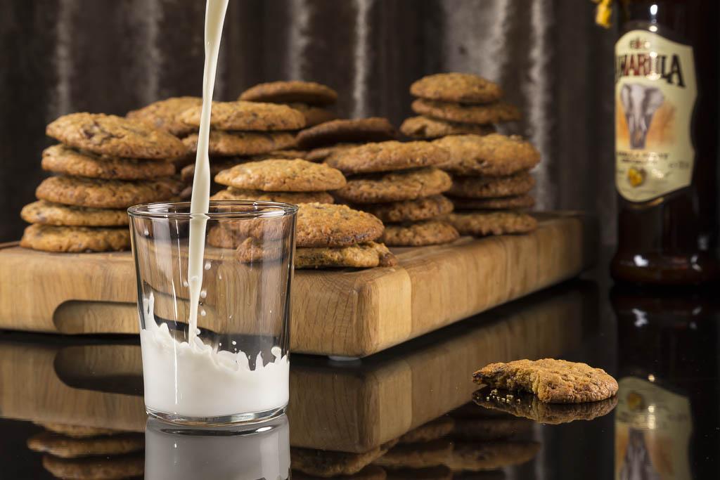 Chocolate chip cookies med amarula Foto: Michael Krantz Recept: Kristin Johansson