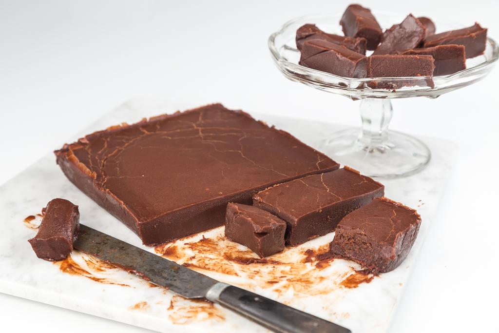 Chokladfudge Foto: Michael Krantz Recept: Kristin Johansson