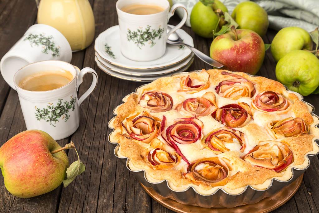 Äppelkaka med frangipane Foto & recept Michael Krantz