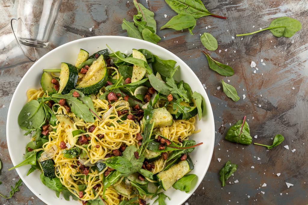 Färsk pasta med squash & citron Foto: Michael Krantz Recept: Kristin Johansson
