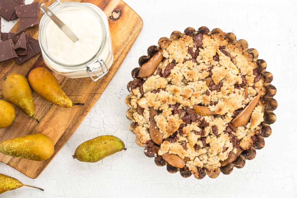 Smulpaj med päron, choklad & mint Foto: Michael Krantz Recept: Kristin Johansson