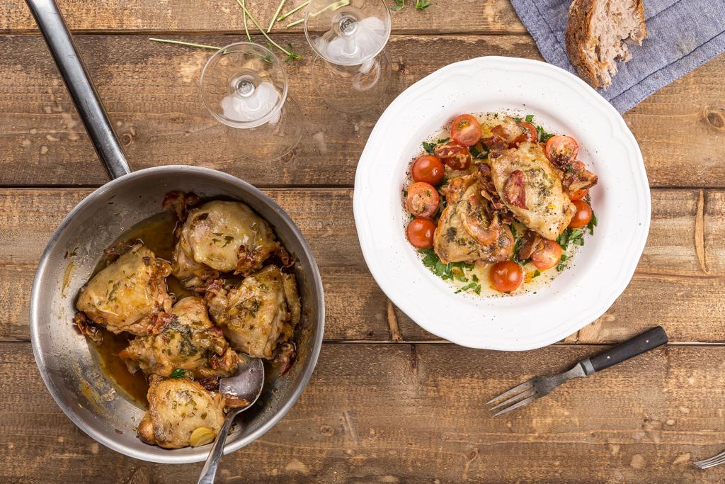 Bräserad kyckling Foto: Michael Krantz Recept: Kristin Johansson