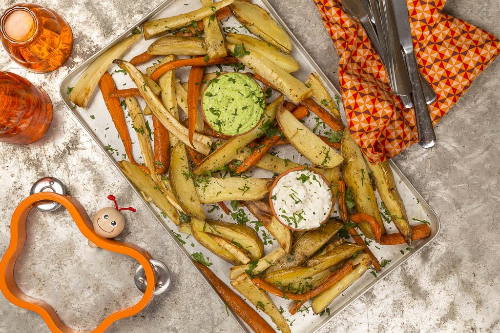 Rotfrukter med dipp Foto: Michael Krantz Recept: Kristin Johansson