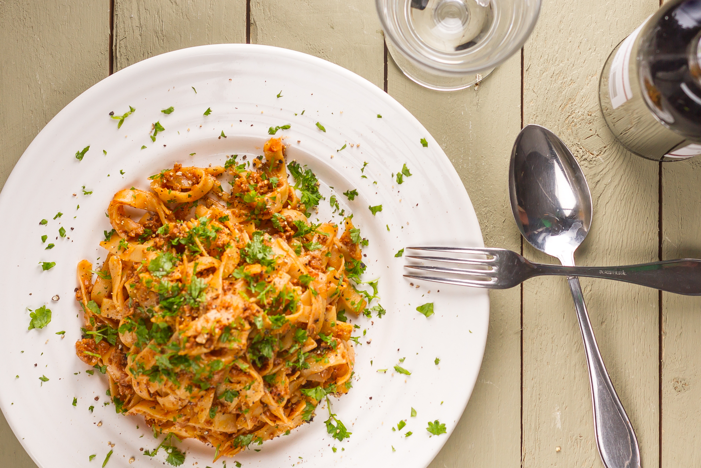 högrev pasta recept