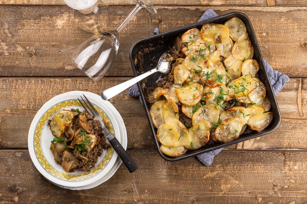 Potatisgratäng med svamp & färs