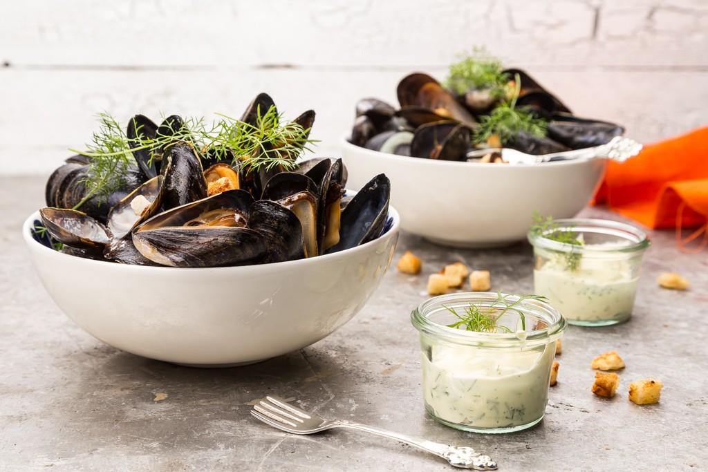 Fänkål- & vinkokta musslor Foto: Michael Krantz Recept: Kristin Johansson