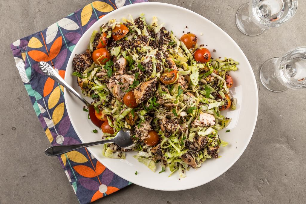 Kompisen quinoa med kyckling & sommarkål