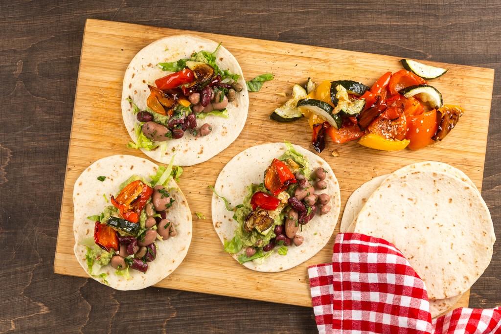 Veggotaco med grillade grönsaker Foto:Michael Krantz  Recept: Kristin Johanson