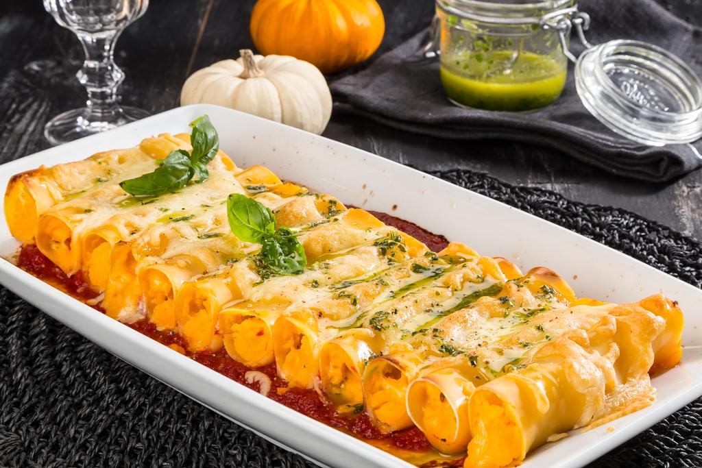 Pumpafylld canneloni