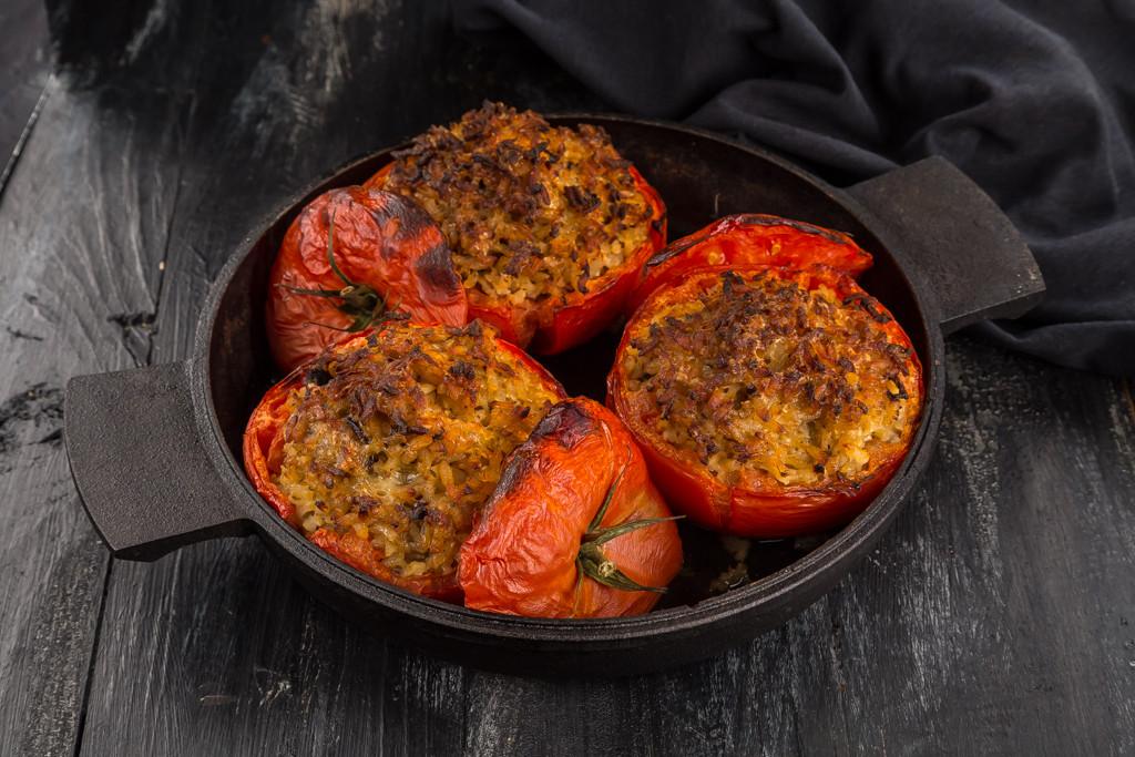 Svampfyllda tomater Foto: Michael Krantz Recept: Kristin Johansson