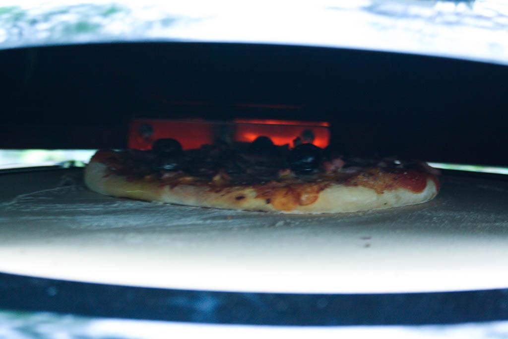 Pizzaugn på grillen