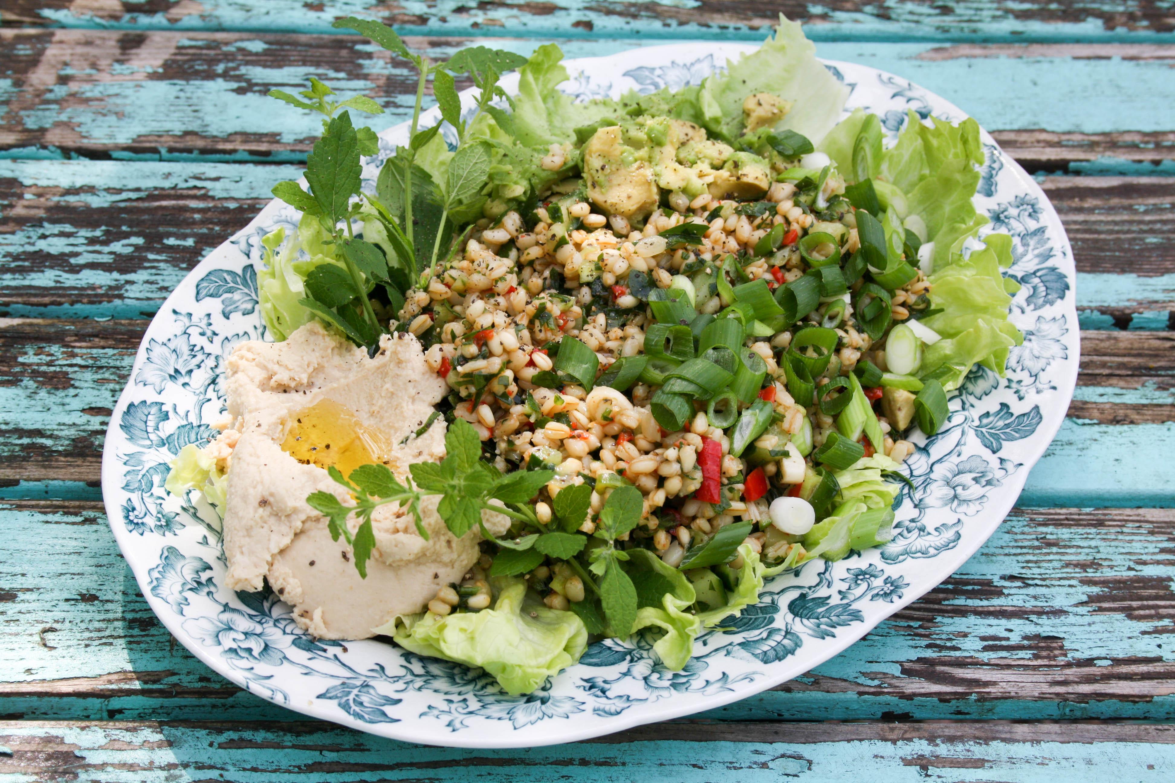 Tahini, Hummus & Tabbouleh med matvete