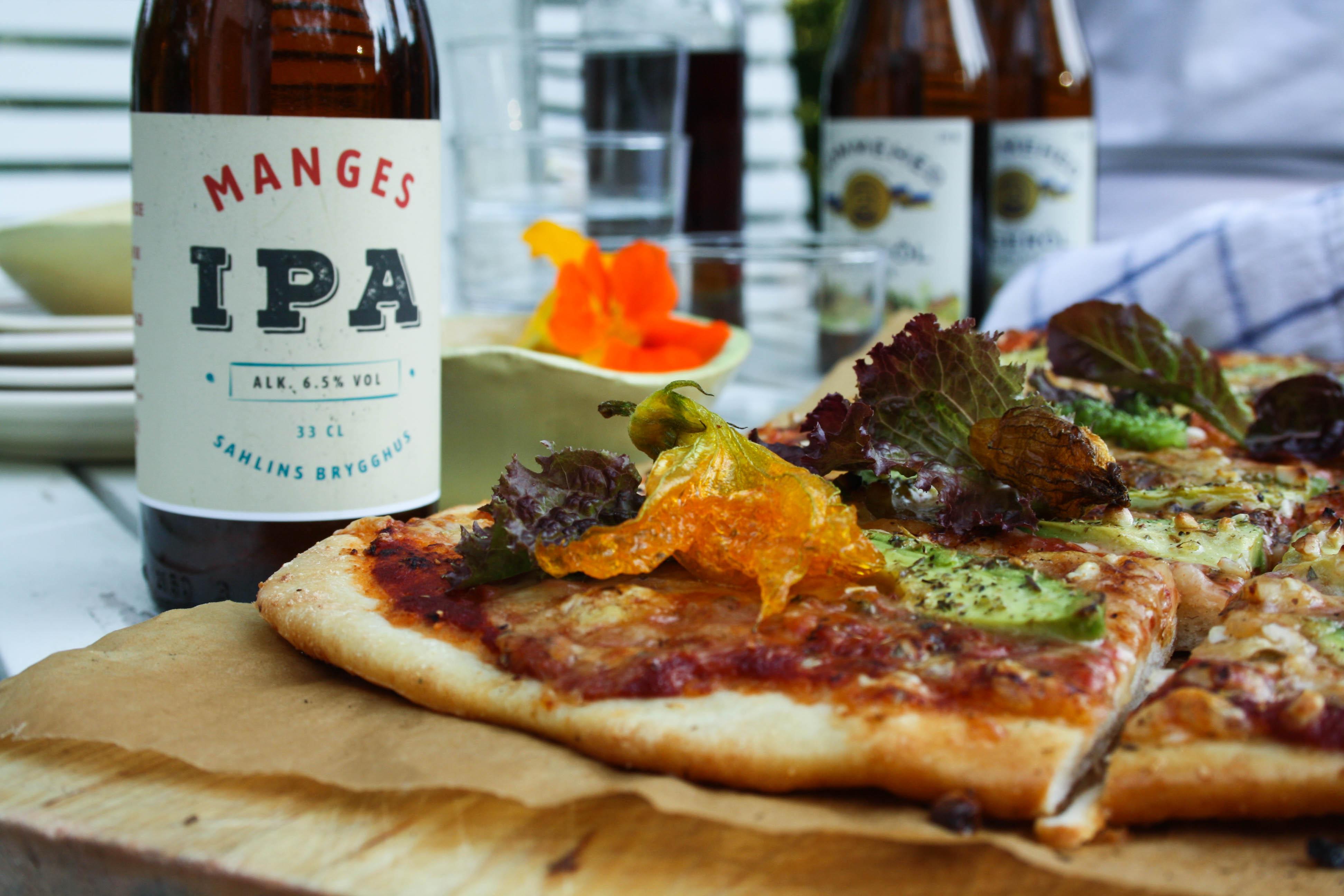 Sahlins brygghus, strutsar, god öl & avokadopizza