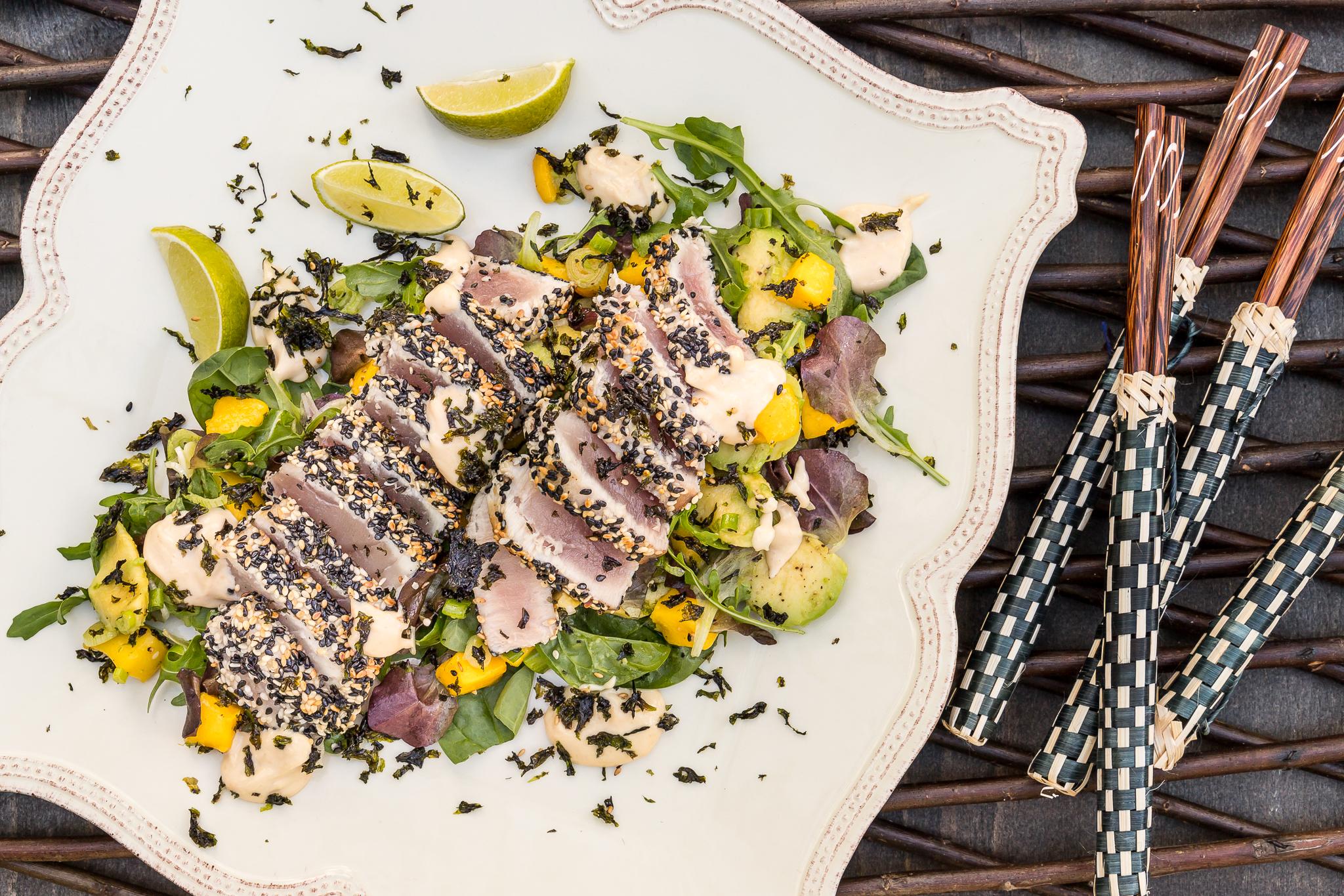Sesamhalstrad tonfisk och den perfekta kärnan