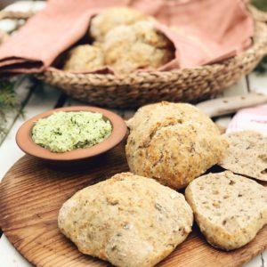 Kalljäst bröd med grönkål & solrosfrön